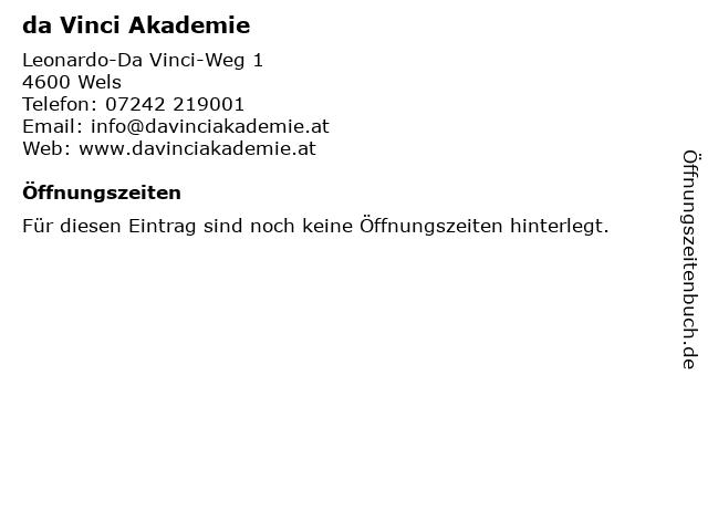 da Vinci Akademie in Wels: Adresse und Öffnungszeiten