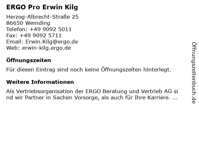 ERGO Pro Erwin Kilg in Wemding: Adresse und Öffnungszeiten