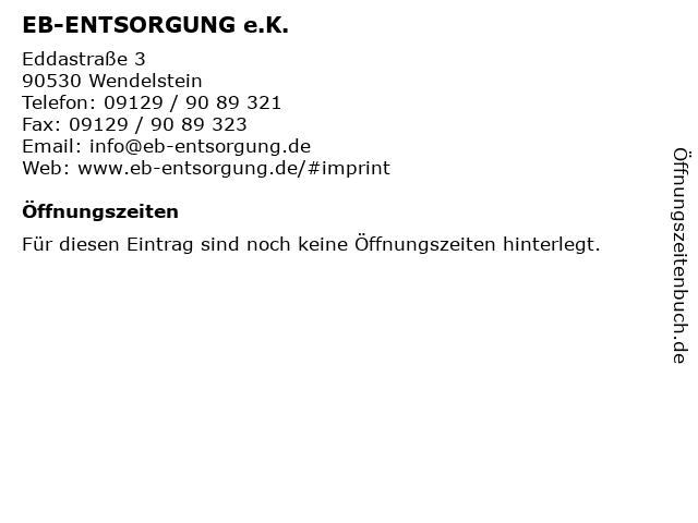 EB-ENTSORGUNG e.K. in Wendelstein: Adresse und Öffnungszeiten