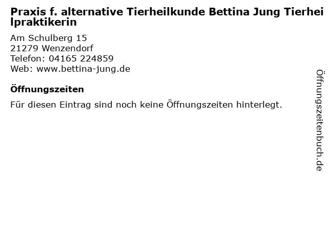 Praxis f. alternative Tierheilkunde Bettina Jung Tierheilpraktikerin in Wenzendorf: Adresse und Öffnungszeiten