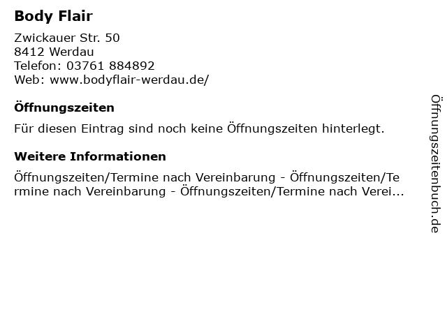 Body Flair in Werdau: Adresse und Öffnungszeiten