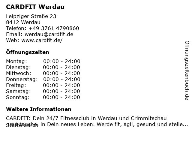 CARDFIT Werdau in Werdau: Adresse und Öffnungszeiten