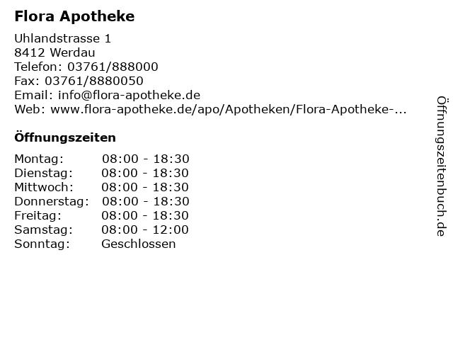Flora Apotheke in Werdau: Adresse und Öffnungszeiten