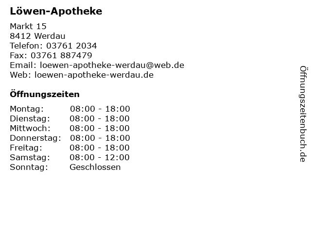 Löwen-Apotheke in Werdau: Adresse und Öffnungszeiten