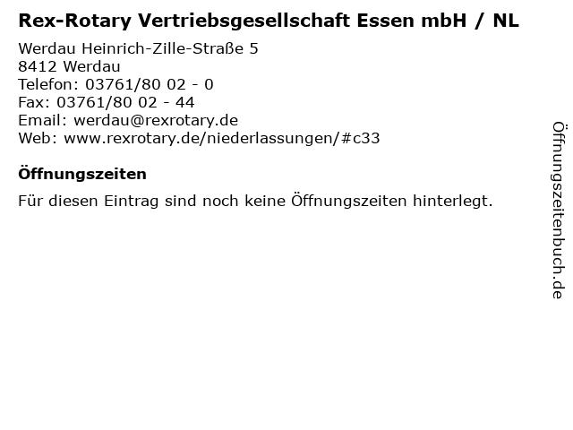 Rex-Rotary Vertriebsgesellschaft Essen mbH / NL in Werdau: Adresse und Öffnungszeiten