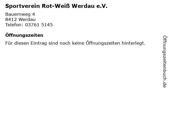 Sportverein Rot-Weiß Werdau e.V. in Werdau: Adresse und Öffnungszeiten