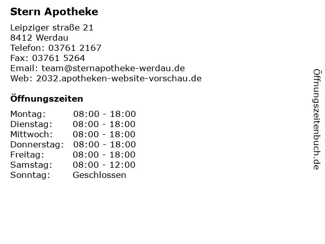 Stern Apotheke in Werdau: Adresse und Öffnungszeiten