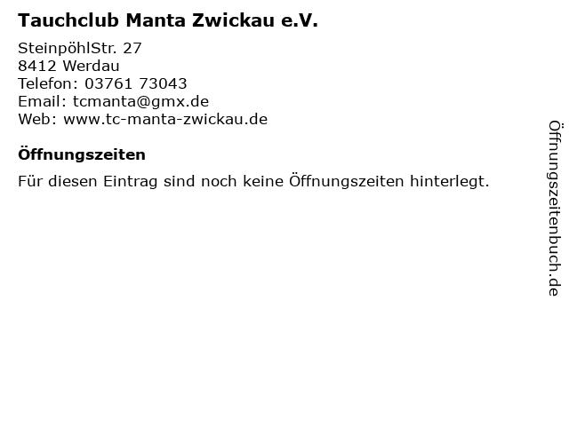 Tauchclub Manta Zwickau e.V. in Werdau: Adresse und Öffnungszeiten