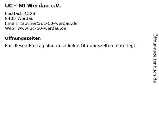 UC - 60 Werdau e.V. in Werdau: Adresse und Öffnungszeiten