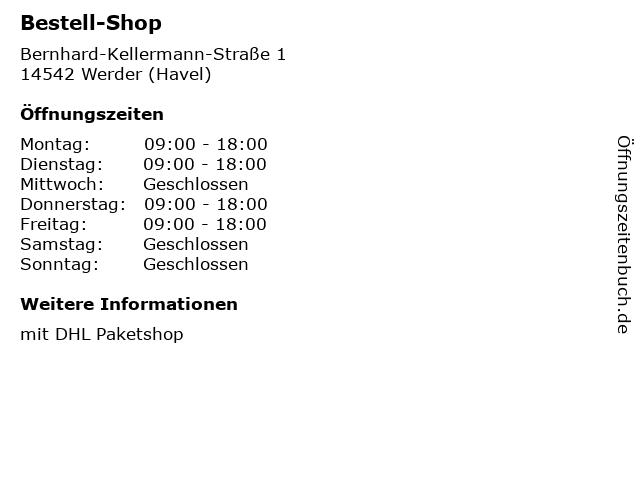 Bestell-Shop in Werder (Havel): Adresse und Öffnungszeiten