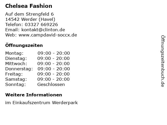 Chelsea Fashion in Werder (Havel): Adresse und Öffnungszeiten