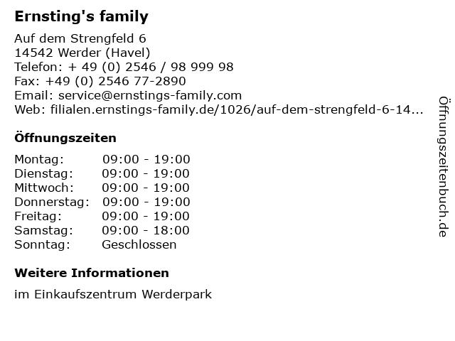 Ernsting's family in Werder (Havel): Adresse und Öffnungszeiten