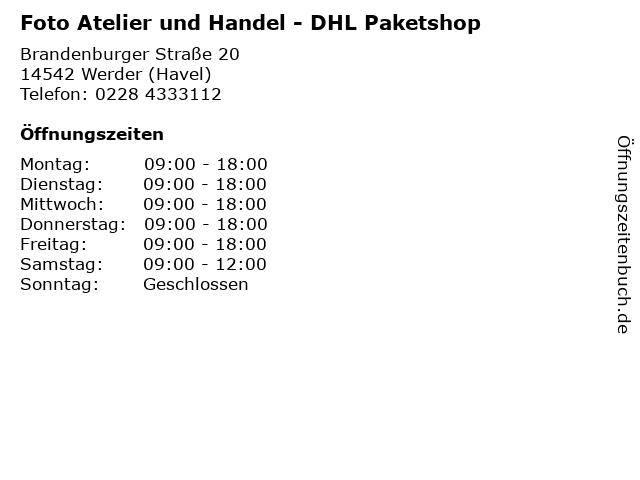 Foto Atelier und Handel - DHL Paketshop in Werder (Havel): Adresse und Öffnungszeiten