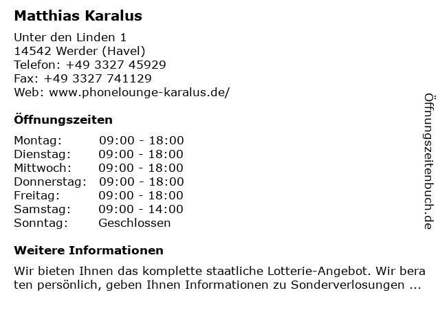 Lotto-Shop in Werder (Havel): Adresse und Öffnungszeiten
