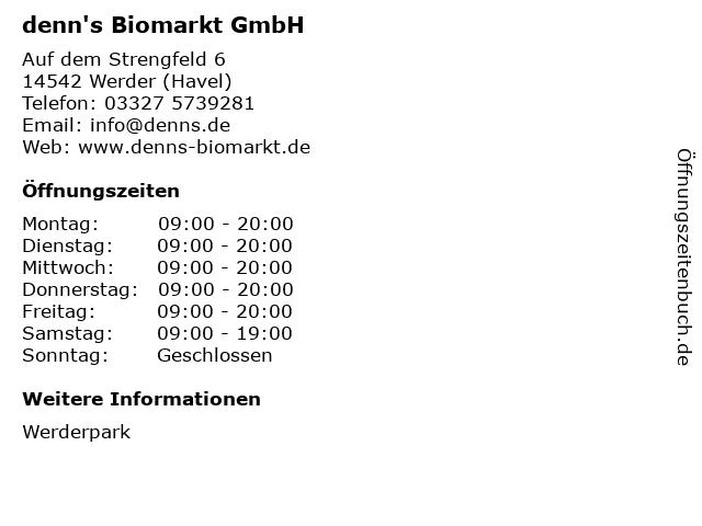denn's Biomarkt GmbH in Werder (Havel): Adresse und Öffnungszeiten