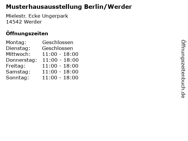 Musterhausausstellung Berlin/Werder in Werder: Adresse und Öffnungszeiten