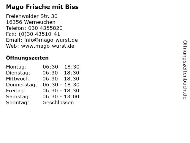 Mago Frische mit Biss in Werneuchen: Adresse und Öffnungszeiten