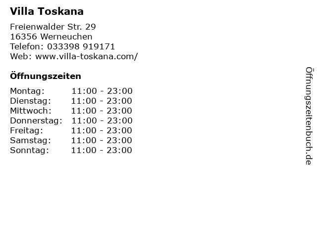 Villa Toskana in Werneuchen: Adresse und Öffnungszeiten