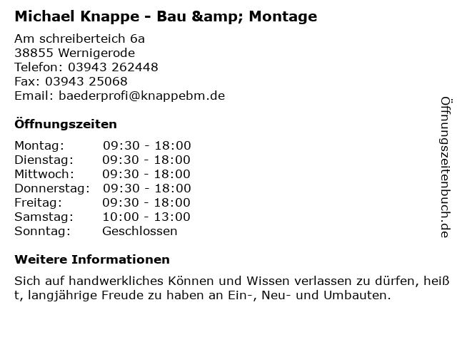 ᐅ öffnungszeiten Knappe Profi Baumarkt Am Schreiberteich 6 A In