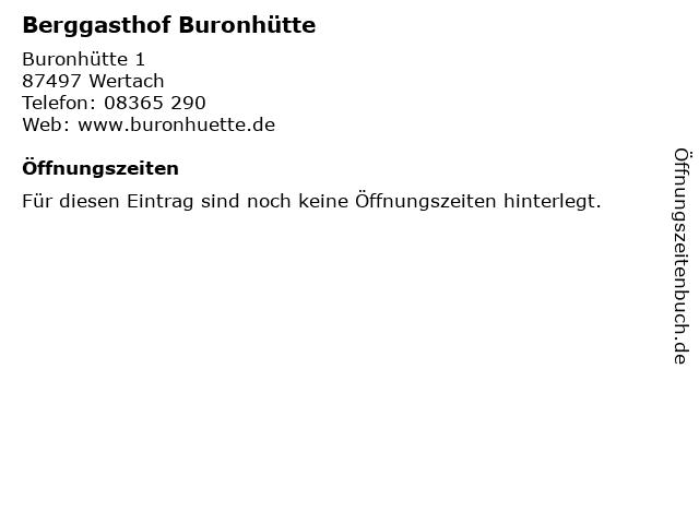 ᐅ Offnungszeiten Berggasthof Buronhutte Buronhutte 1 In Wertach