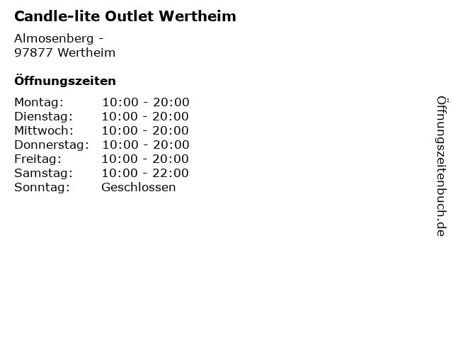 Candle-lite Outlet Wertheim in Wertheim: Adresse und Öffnungszeiten