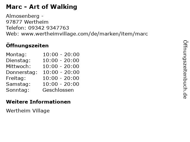 Marc - Art of Walking in Wertheim: Adresse und Öffnungszeiten