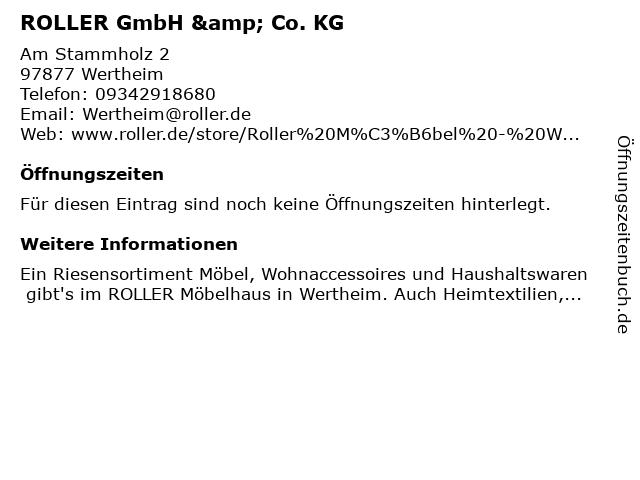 ᐅ öffnungszeiten Roller Gmbh Co Kg Am Stammholz 2 In Wertheim