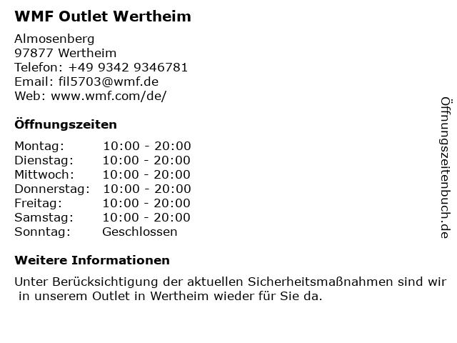WMF Outlet Wertheim in Wertheim: Adresse und Öffnungszeiten