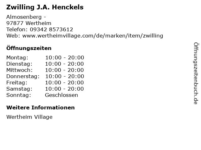 Zwilling J.A. Henckels in Wertheim: Adresse und Öffnungszeiten