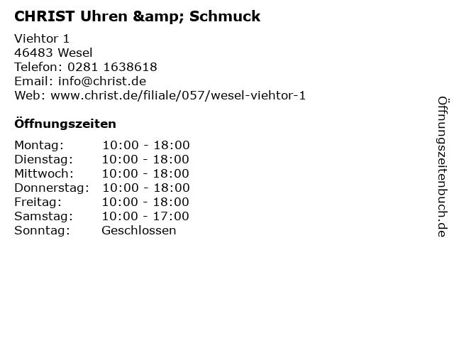 CHRIST Uhren & Schmuck in Wesel: Adresse und Öffnungszeiten