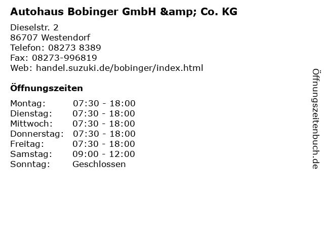 Autohaus Bobinger GmbH & Co. KG in Westendorf: Adresse und Öffnungszeiten