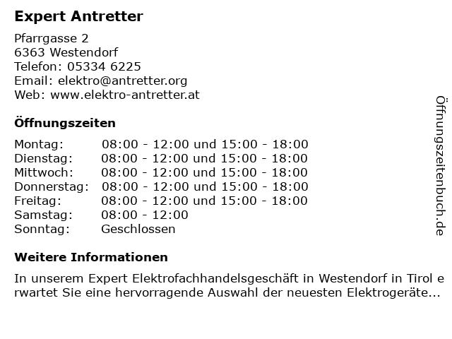 Expert Antretter in Westendorf: Adresse und Öffnungszeiten