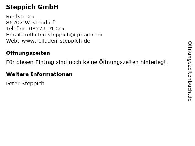Steppich GmbH in Westendorf: Adresse und Öffnungszeiten
