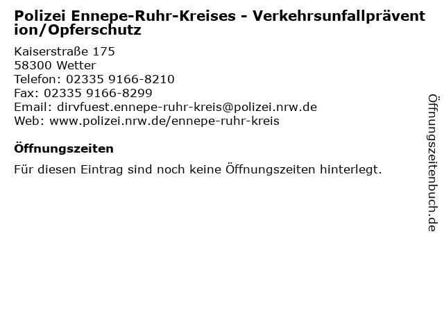 ᐅ öffnungszeiten Polizei Ennepe Ruhr Kreises