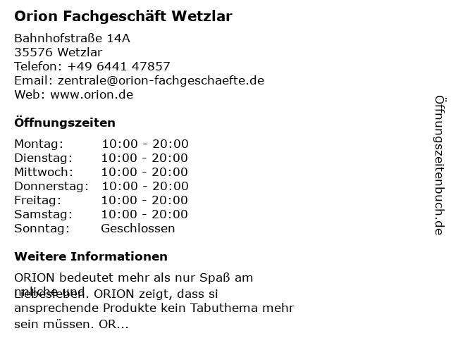Orion FachgeschäFt Bremen
