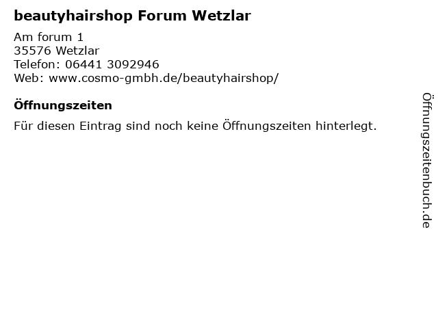 COSMO Beauty GmbH in Wetzlar: Adresse und Öffnungszeiten