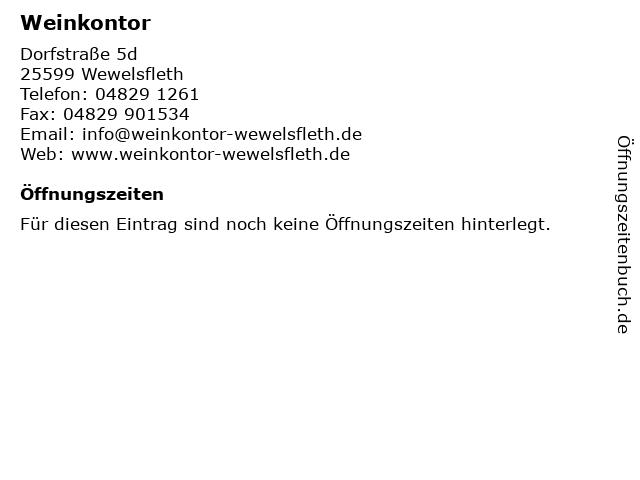 Weinkontor in Wewelsfleth: Adresse und Öffnungszeiten