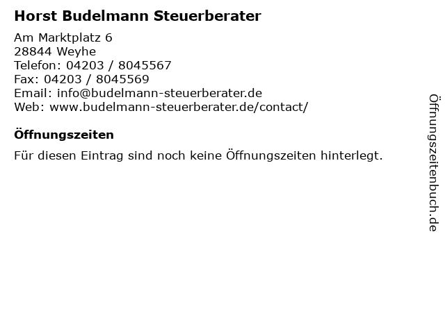 Horst Budelmann Steuerberater in Weyhe: Adresse und Öffnungszeiten