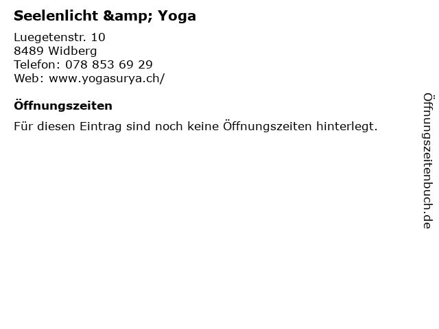 Seelenlicht & Yoga in Widberg: Adresse und Öffnungszeiten