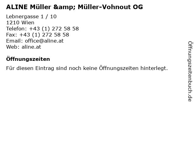 ALINE Müller & Müller-Vohnout OG in Wien: Adresse und Öffnungszeiten