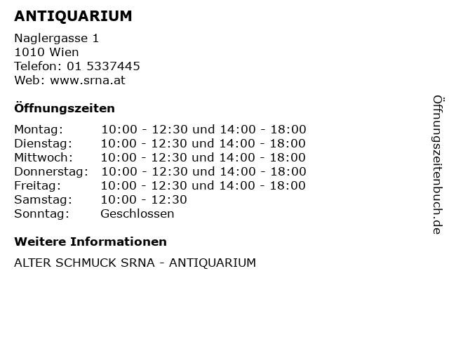 ANTIQUARIUM in Wien: Adresse und Öffnungszeiten