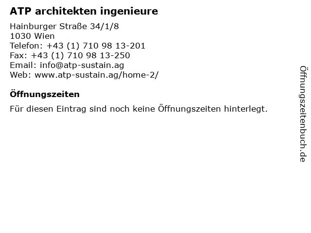ATP architekten ingenieure in Wien: Adresse und Öffnungszeiten