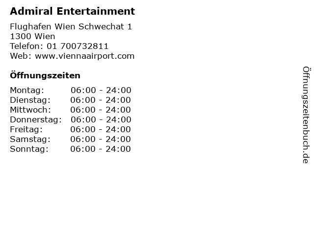 Admiral Entertainment in Wien: Adresse und Öffnungszeiten