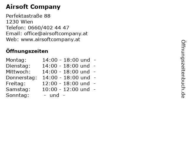 Airsoft Company in Wien: Adresse und Öffnungszeiten