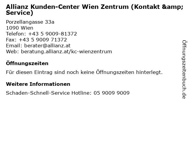 Allianz Kunden-Center Wien Zentrum (Kontakt & Service) in Wien: Adresse und Öffnungszeiten