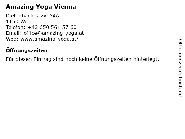 Amazing Yoga Vienna in Wien: Adresse und Öffnungszeiten