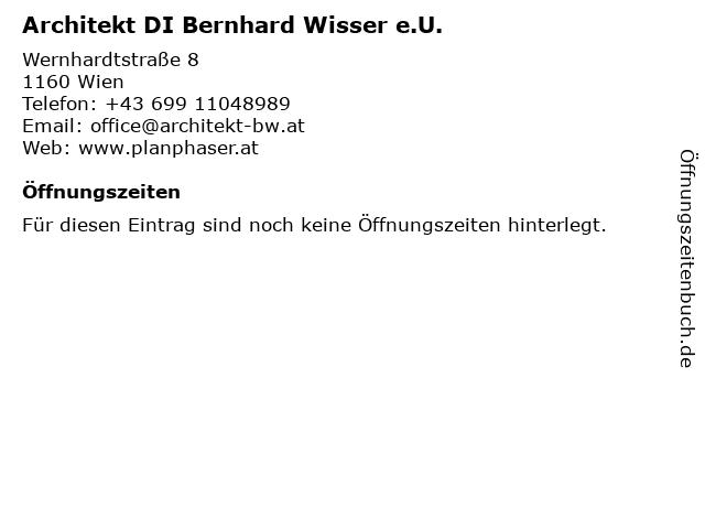Architekt DI Bernhard Wisser e.U. in Wien: Adresse und Öffnungszeiten