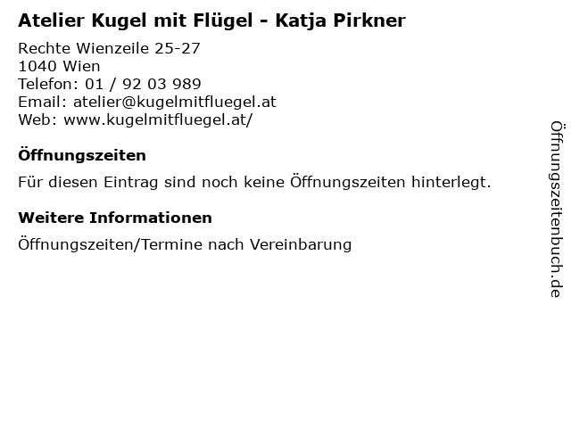 Atelier Kugel mit Flügel - Katja Pirkner in Wien: Adresse und Öffnungszeiten
