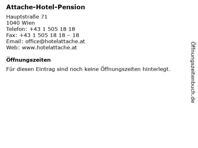 Attache-Hotel-Pension in Wien: Adresse und Öffnungszeiten