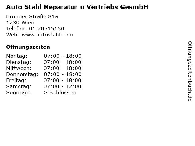 Auto Stahl Reparatur u Vertriebs GesmbH in Wien: Adresse und Öffnungszeiten